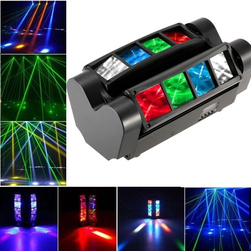 90W RGBW 6 / 12 Channels LED DMX512 Sound Activated Mini Spider Stage Beam Light