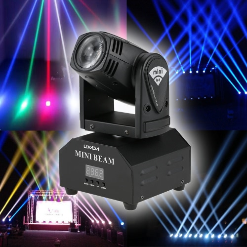 Lixada 50W LED Rotating Moving Head RGBW Beam Stage Effect Lamp