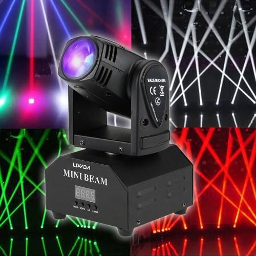 Светодиодная лампа Lixada 50W, вращающаяся движущаяся головка RGBW Beam Stage Effect Lamp