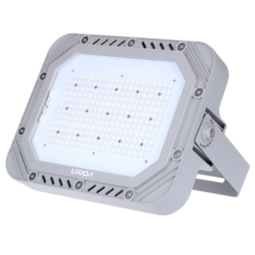 Lixada 100-277V 200W 23000LM High Bright IP66 Water Resistant White LED Flood Light Spotlight Security Lamp for Garden Wall Outdoor Illumination