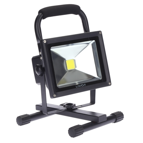 Lixada 10W LED Rechargeable Floodlight Portable Outdoor Security Lamp Emergency Floodlight Water-resistant IP66 Car Charger Included