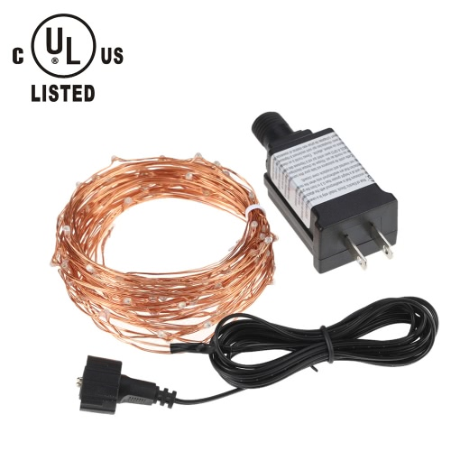 Tomshine 10M/33FT 100LEDs Starry Copper Wire String Extra Thin Bendable Flexible Multicolored Flashing Light Strip Christmas Holiday Festival Decorati