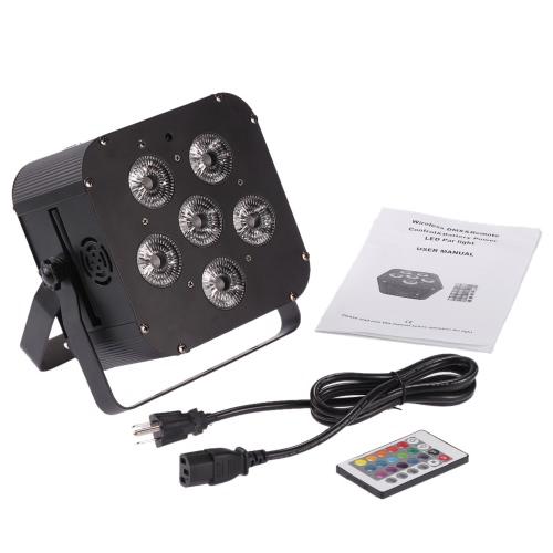 PAR Bezprzewodowa bezprzewodowa odbiornik DMX Akumulatorowa lampa sceniczna US Plug