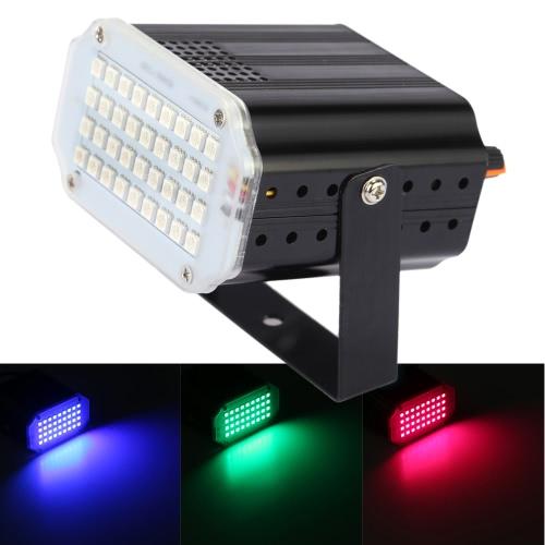 8W Mini 36pcs RGB LEDs Stage Effect Light Strobe/Flash Light Voice-activated Auto Run Stroboscopic DJ/Club/Bar/Disco Lamp Home Party Stage Lighting