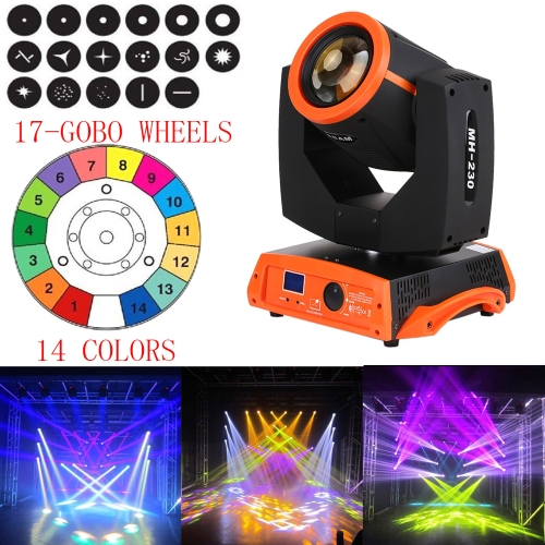 230W RGBW Gobo Pattern Prism Head Moving Stage Effect Light