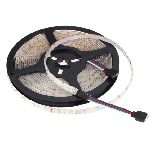 Lixada 5M / 16.4FT 300LEDs SMD3528 RGB Tira de luz flexible