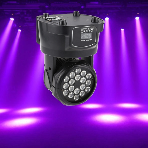 50W 18 LED 13/ 8 Channel RGB Head Moving Lamp Wash Effect Stage Light Support DMX512 Auto Run Sound Activation for KTV Club Bar Party