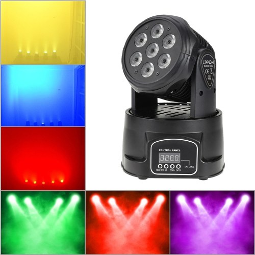 70W 7 LEDs RGBW 4 in 1 LED Bühneneffekt Moving Head Light