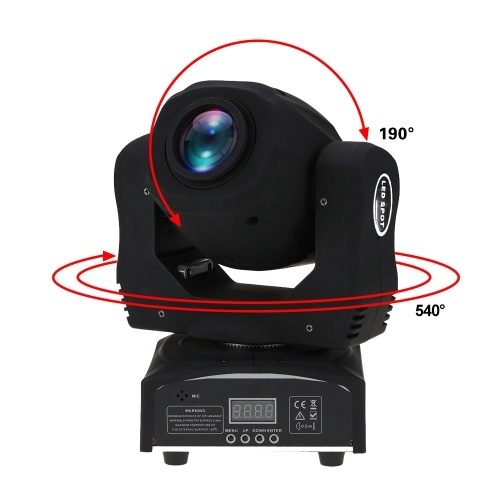 Docooler 60W Moving Head Light LED 8 Gobos 8 Colors 9/11 Channel Stage Effect Lamp RGBW Auto-run DMX512 Sound-activated Master-slave for DJ Club Show Disco Party Bar Lighting