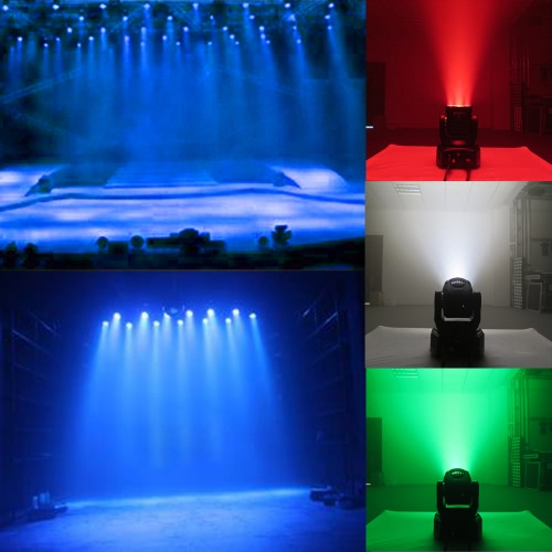 Docooler Mini 4 LEDs 50W RGBW Wash Rotating Moving Head Stage Effect Light 14/16 Channel DMX512 Sound-activeated for Indoor Disco KTV Club Party