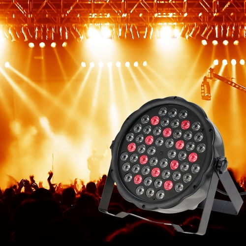 70W 54LEDs 7Channel RGBW Flat Wash PAR Light Stage Effect Lamp