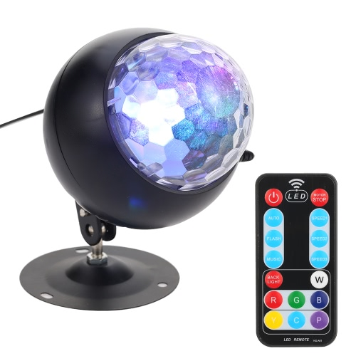 Tomshine Party Disco Ball Lights, 14 Colors Sound Activated Ocean Wave Projector LED Strobe Effect Stage Light for Birthday Club Wedding Celebration Decoration