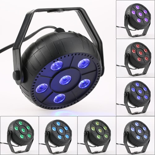 Mini 13W 6 LEDs RGB 3 in 1 Wash Effect Stage Par Light