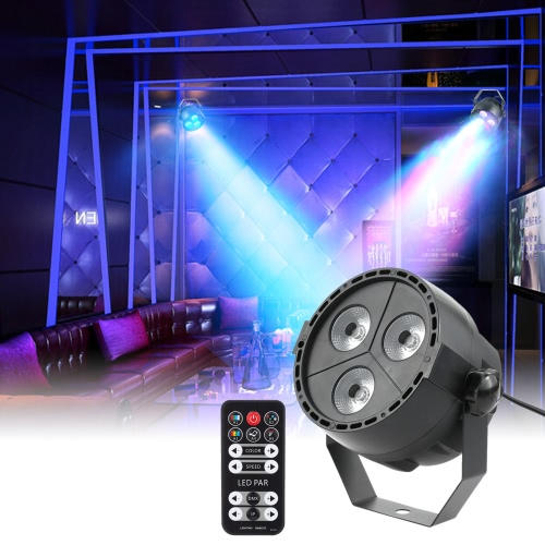 Tomshine 15W 3LEDs RGBP Stage Par Light with Remote Controller, TOMTOP  - buy with discount