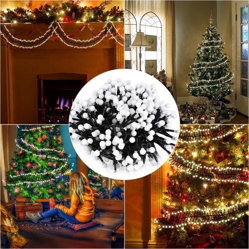 Tomshine 400 Globe LEDs 26ft String Light Firecracker Low Voltage with 8 Modes Decorative Festival Waterproof for Outdoor Indoor Wedding Xmas Garden Backyard
