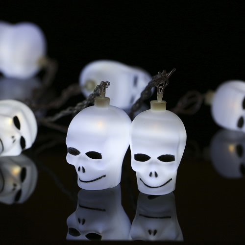 20LEDs 16.4ft Skull String Light  Lamp for Halloween Party Festival Decoration