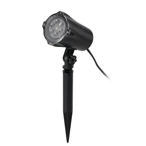 4 LEDs Lámpara de proyector de copo de nieve en movimiento