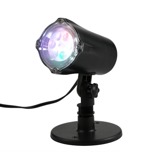 4 LEDs Moving Snowflake Projector Lamp