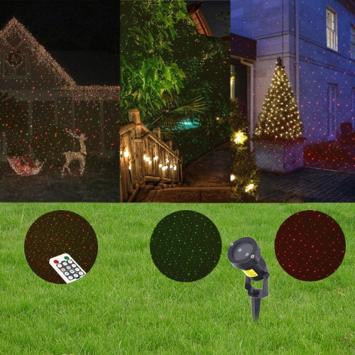 Red Green Sky Star Lawn Decoration Lamp With Remote Control