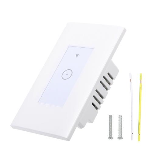 WIFI Интеллектуальный сенсорный контроллер настенного переключателя Поддерживается смарт-приложение с телефоном / управление голосом / синхронизация / время задержки / функция совместного использования Cpmpatible для системы Android / IOS для освещения