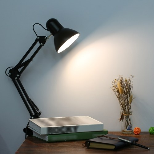 AC85-265V Dobrável Desk Lamp Clamp Clip Light