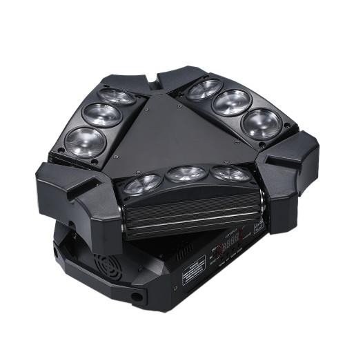 AC100-240V 100W 9 LEDs RGB Rotatable Stage Beam Lamp