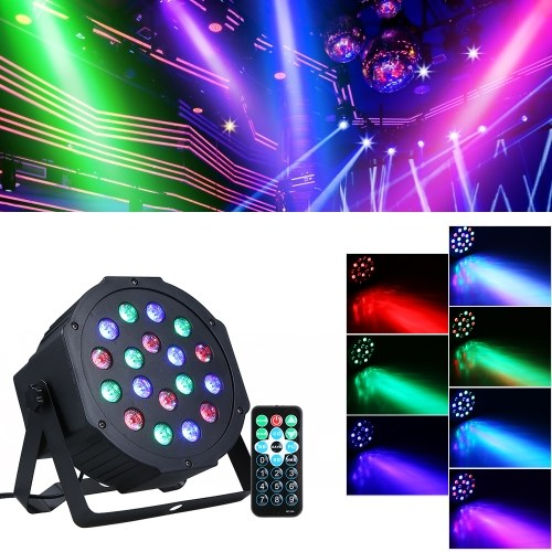 AC90-240V 15W 18 светодиодов RGB Mini Stage Par Light