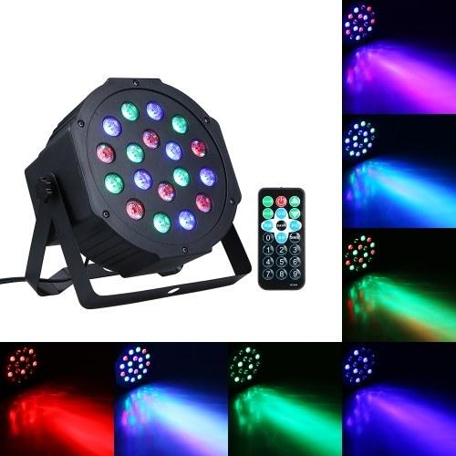 AC90-240V 15W 18 LEDs RGB Mini Stage Par Light