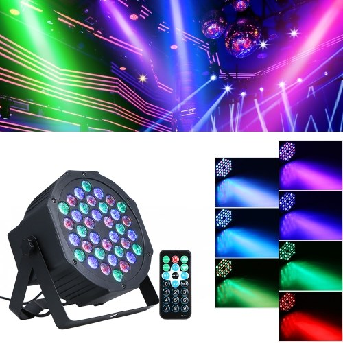 Luce parabolica RGB mini palco AC90-240V 24W 36 LED