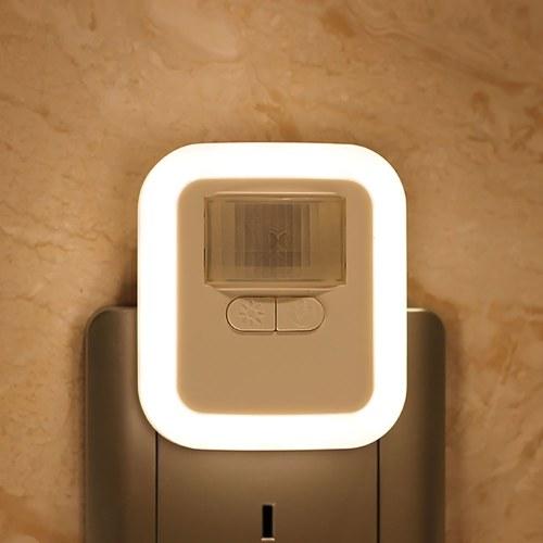 Luz do sensor de movimento do plug-in de LED AC110-240V