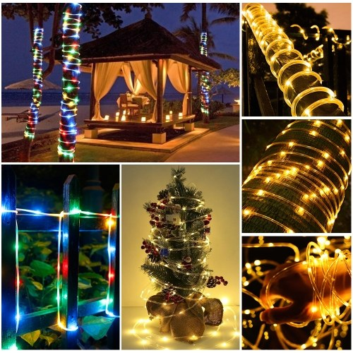 AC 120V 5M/16.4Ft 6W 50 LEDs Rope Light Fairy Copper Wire Lamp