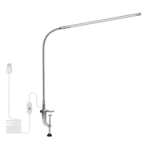 Abajur de mesa com clipe USBControle de toque Iluminação branca ajustável Ângulo de iluminação flexível LEDs