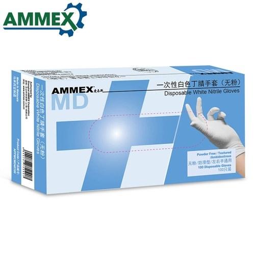AMMEX 100Pcs Одноразовые нитриловые резиновые перчатки без пудры, маслостойкие удобные перчатки для промышленности Домашняя пища Медицинские стоматологические услуги фото