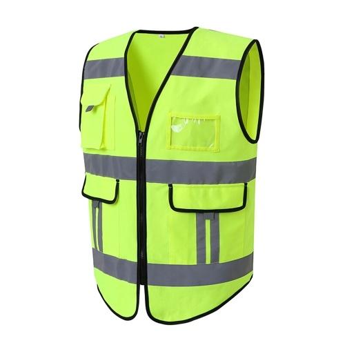 120155 Chaleco reflectante de seguridad Chaleco de seguridad de alta visibilidad