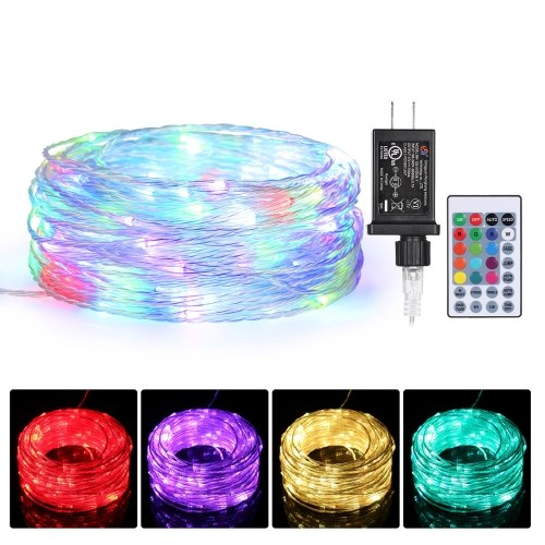 Tomshine 23m 200 LEDs Fairy String Lights with Remote Control 13 Monochrome 8 Lighting Modes Plug-in Twinkle Light 6/12H Timer Function IP68 Waterproof for Bedroom Patio Garden Party Wedding Christmas