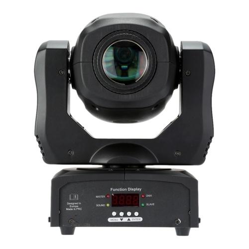 Controle de som DMX512 de 35W com rotação automática 8 cores Mudando a lâmpada de fase de LED de mudança de cabeça