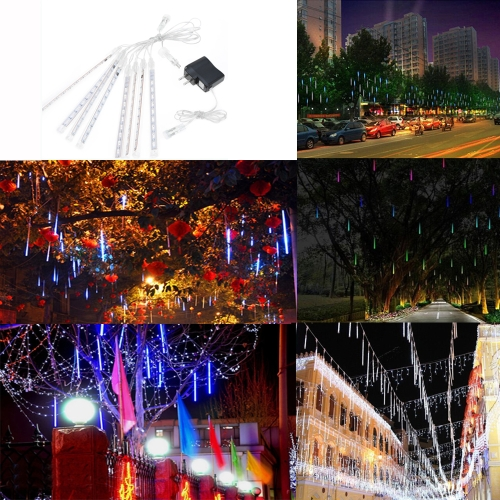 30cm 8 Tubes Falling Snow Strip Fairy Meteor Shower Rain LED Light String
