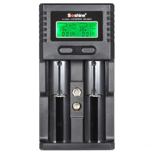 Soshine LCD Universal Battery Charger Dual Channel