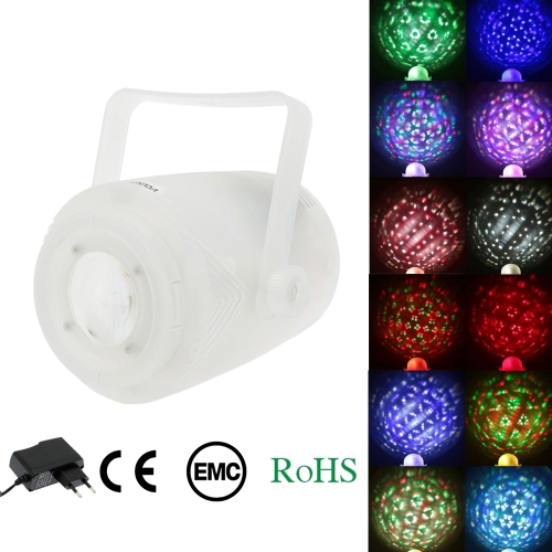 Lixada 5LEDs 20W RGBWA Color Changing Gobo Light Stage Effect Lamp Support Auto Run Sound Activation Remote Control for KTV Disco Club Bar Party
