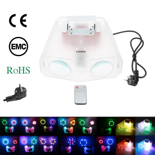 Lixada 20W 114LEDs Double Dural RGBWA Colorful Moon Flower Effect Stage Lamp Beam Light Support Auto Run Sound Activation Remote Control for KTV Disco Club Bar Party