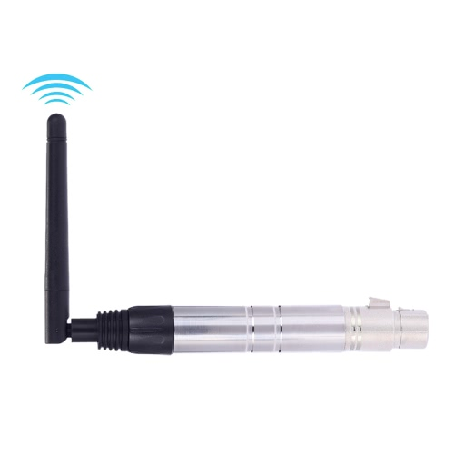 2.4G ISM DMX512 Wireless Female XLR Receiver Lighting Controller with Antenna