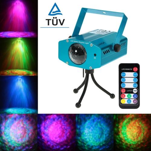 Lixada 9W Farbwechsel-Mini-LED Wasser Welle Welleneffekt Bühne Lampe mit TUV-Netzteil Controller für Disco KTV Club Party Home Entertainment