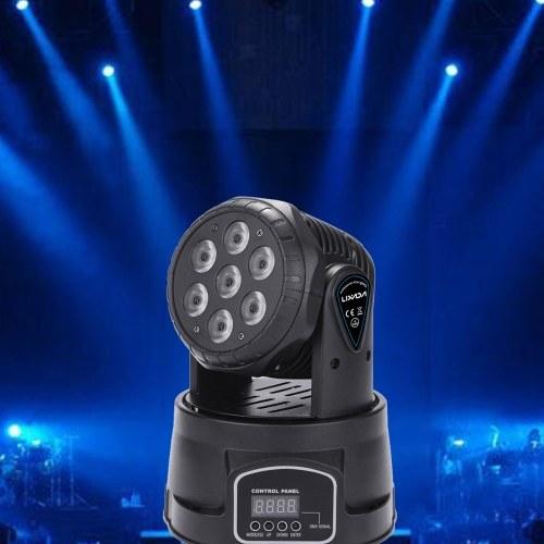Lixada 7 LED 105W RGBW 9/14 canaux DMX512 Mini Scène Lumière