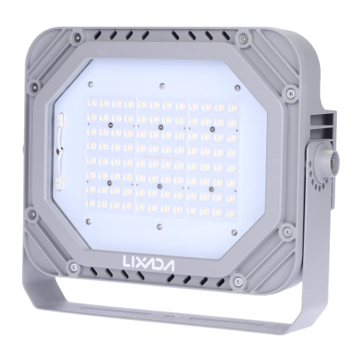 Lixada TUV Certification 200-240V 80W 9200LM High Bright IP66 Water Resistant White LED Flood Light Spotlight Security Lamp for Garden Wall Outdoor Illumination