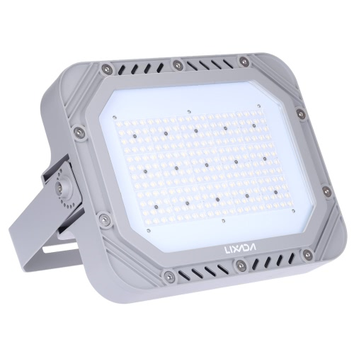 Lixada 100-240V 200W 23000LM High Bright IP66 Water Resistant White LED Flood Light Spotlight Security Lamp for Garden Wall Outdoor Illumination