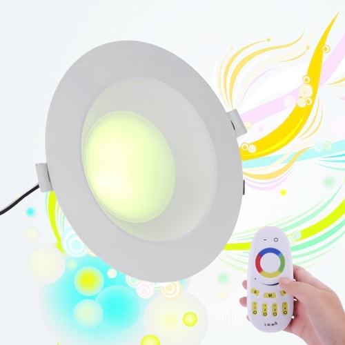 9W AC86-265V 800-850LM 2.4G Wifi RGB & White RGBW Smart LED Downlight Lamp Brightness Adjustable Color Changing Touch Sensor Remote Control Multicolored Illuminative Indoor Use EU Style