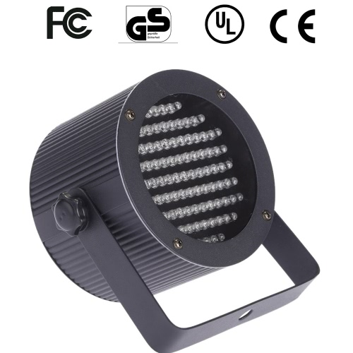 10W AC90-240V 86 RGB LEDs Par Can Light Channel 1/2/3/4 Stage Effect Light DMX 512/ Sound Activated/ Master Slave/ Auto Run/ for Disco Stage Bar DJ Club Home KTV Show Par Lamp