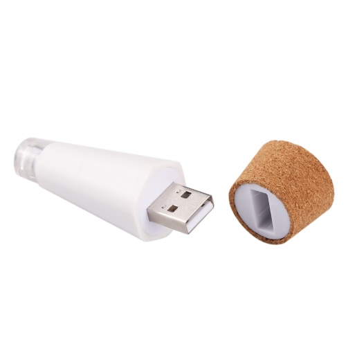 Hexágono del corcho en forma de USB recargable LED de luz de la noche