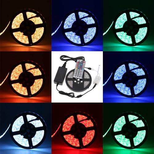 Lixada LED Strip Light Kit 5M/16.4FT 300LEDs SMD5050 RGB 1000LM/M Strip
