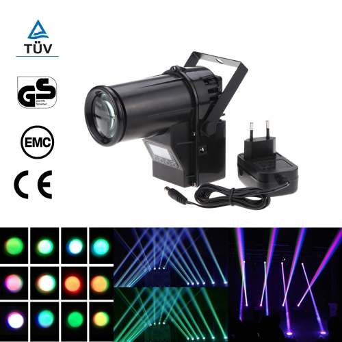 10W 6 Channel Portable RGBW LED Spotlight Beam Effect Pinspot Stage Light